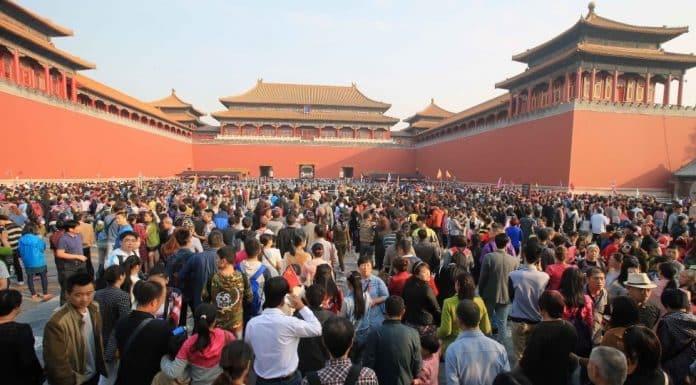 suasana sesak di Forbidden City